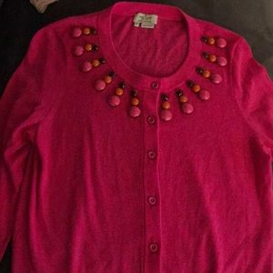 Kate Spade pink beaded cardigan - new w/out tags